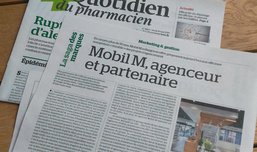 Mobil M est à l'honneur dans le quotidien du pharmacien