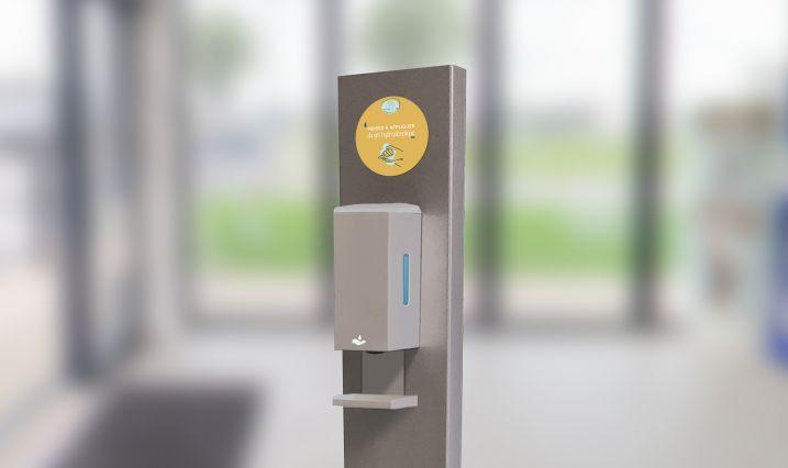 Distributeur automatique de gel hydro alcoolique