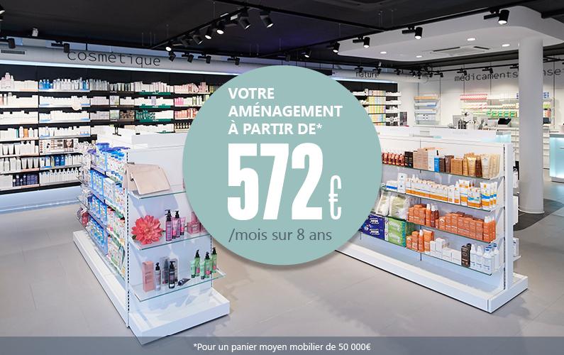 Réagencez votre pharmacie à partir de 572€/mois !