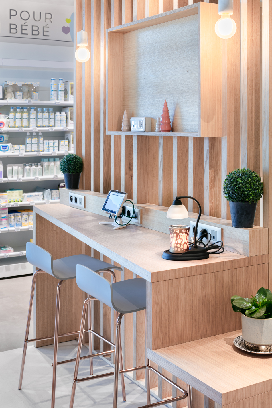 meuble conseil et beauté espace beauté pharmacie Mobil M