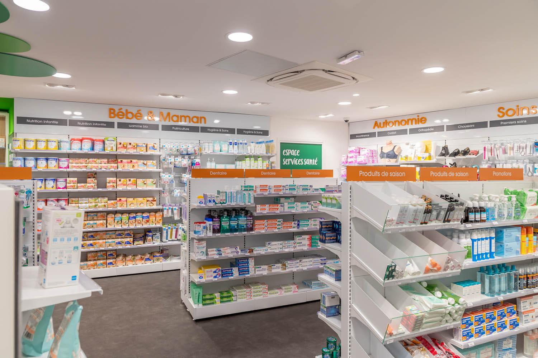 agencement de pharmacie de Saint Joseph Nantes 44 MOBIL M