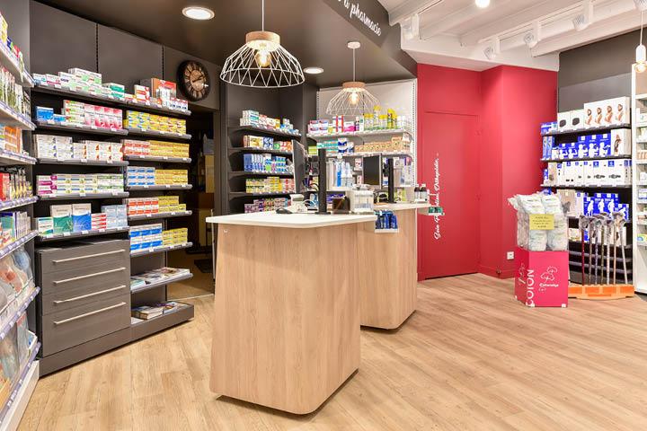 agencement de la pharmacie Calmels par Mobil M agenceur pharmacie