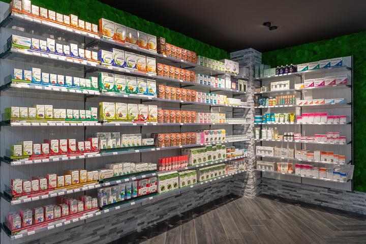 Espace nature mur végétal brique en pierre pharmacie de la couronne Saint Dizier (52) Mobil M agence
