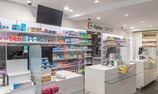 Espace comptoirs pharmacie giphar mobil m