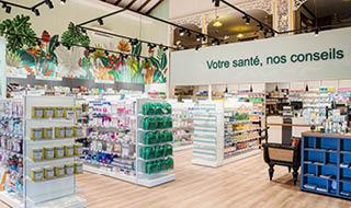 agencement pharmacie combé espace nature