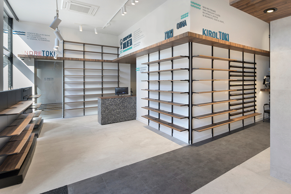 espace orthopédie mobilier pharmacie espagne Bolueta Bilbao Mobil M
